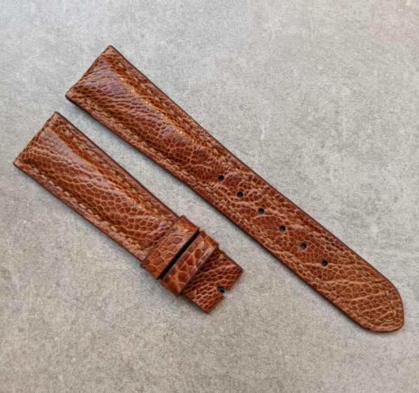 ostrich-shin-watch-strap-brown