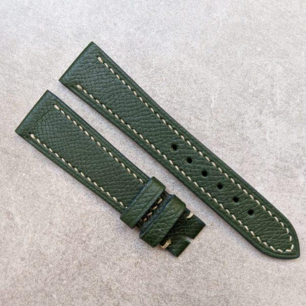 epsom calfskin watch strap -green