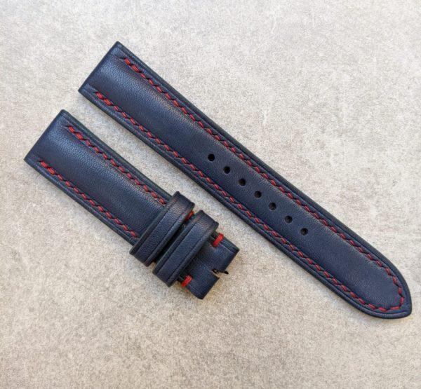 blue-watch-strap-red-stitching