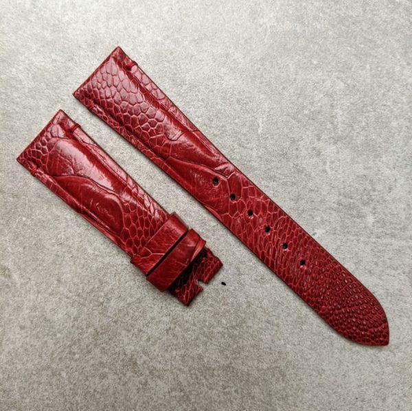 ostrich-skin-watch-strap-burgundy