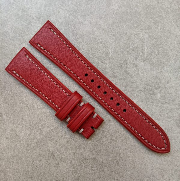 goatskin-watch-strap-red