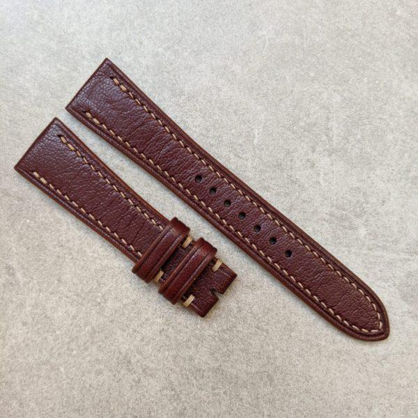 goatskin-watch-strap-burgundy