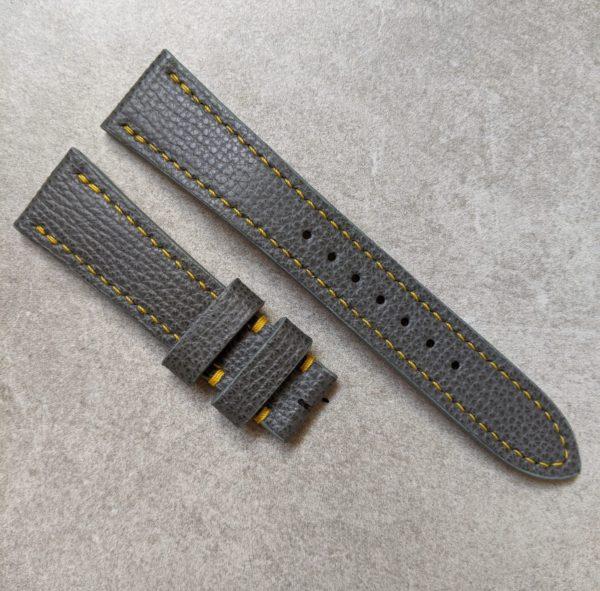 graphite-calfskin-watch-strap