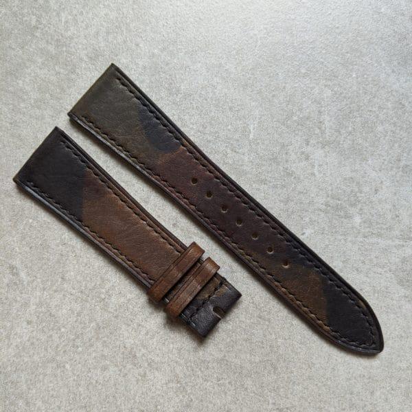 Calfskin-watch-strap-camouflage