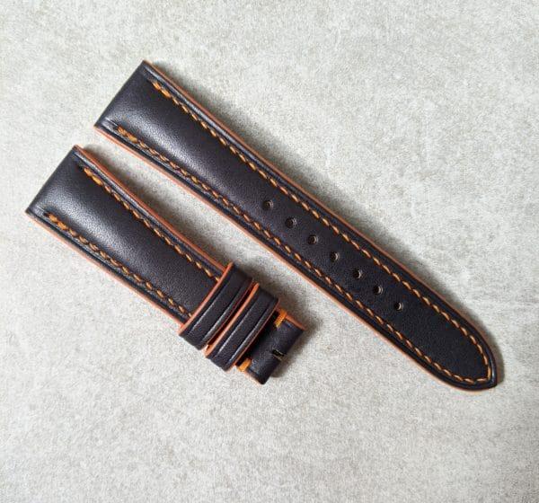 black-orange-calfskin-watch-strap