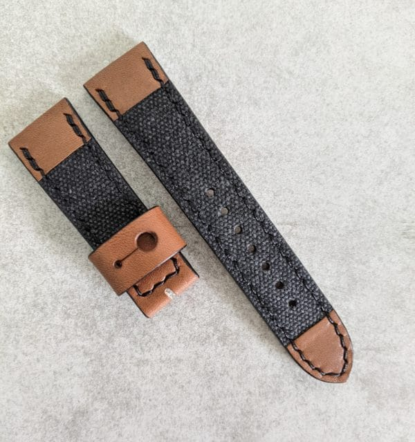 canvas-leather-watch-strap
