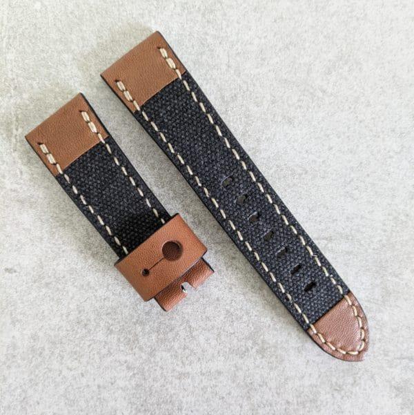 canvas-leather-black-watch-strap