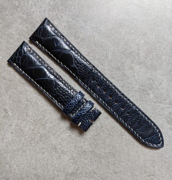 navy-blue-ostrich-cream-watch-strap
