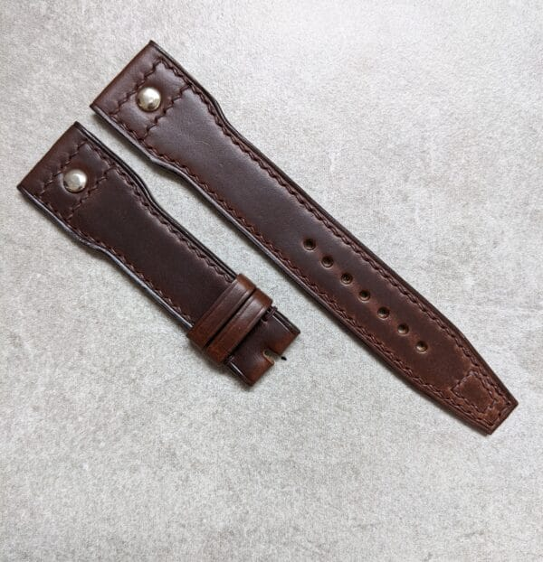 iwc-watch-strap-chocolate-brown